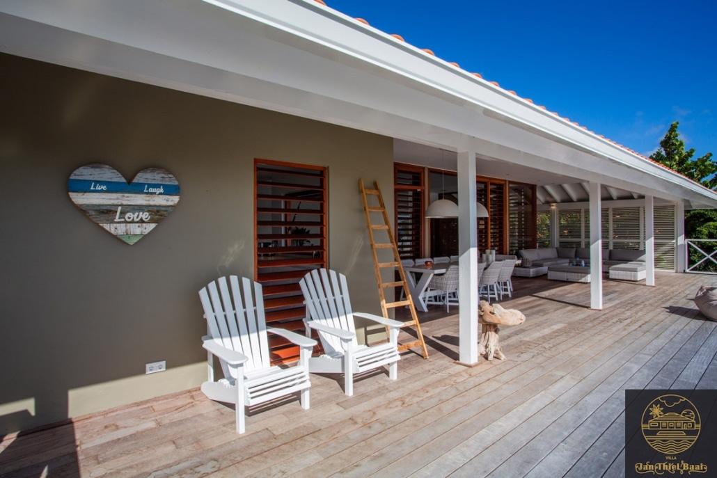 Vakantievilla Curacao huren? Nog een foto van de veranda