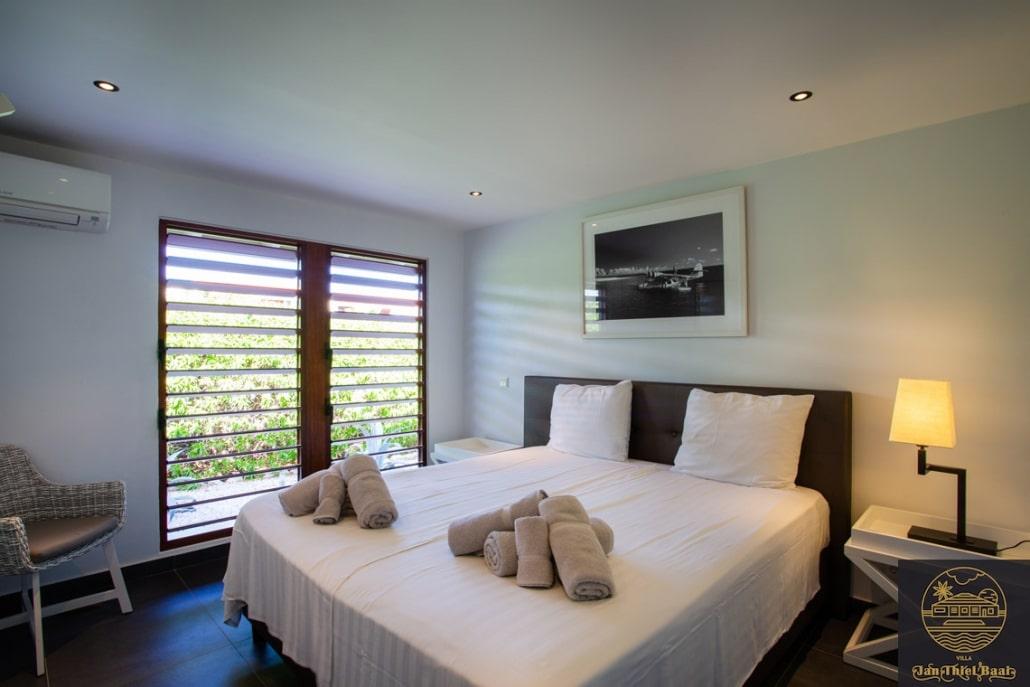 Vakantievilla Curacao huren? Slaapkamer met een tweepersoonsbed